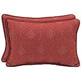 hampton bay outdoor pillow - Chili Stitch Ogee Lumbar Outdoor Pillow (2-Pack)