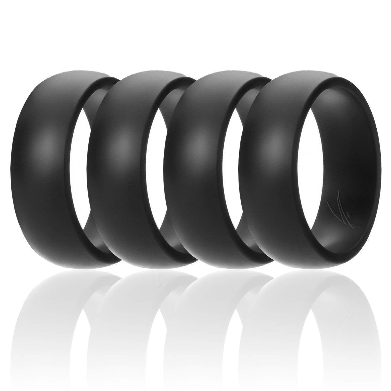 100%品質 シリコンウェディングリングメンズby Roq手頃なシリコンゴムバンド、7パック、4パック& Singles Pack – 迷彩 Pack、メタルLookシルバー Singles、ブラック、グレー、ライトグレー B07B8F2S45 4 Pack Black 15 (23.06mm) 15 (23.06mm)|4 Pack Black, 剣道良品館:f8cce140 --- beyonddefeat.com