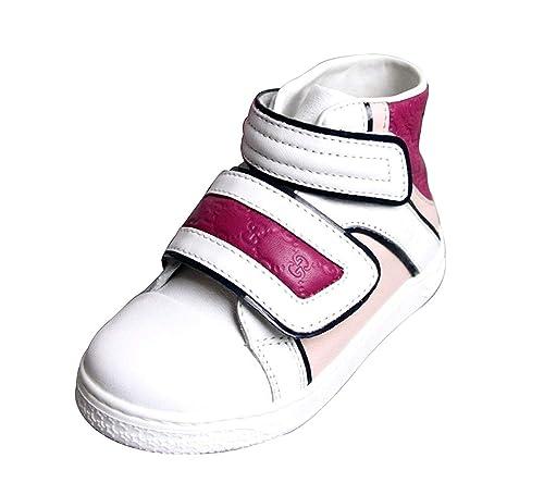 Gucci Los niños de cuero zapatillas Pop Hightop Coda 301353 301354 (2, blanco/