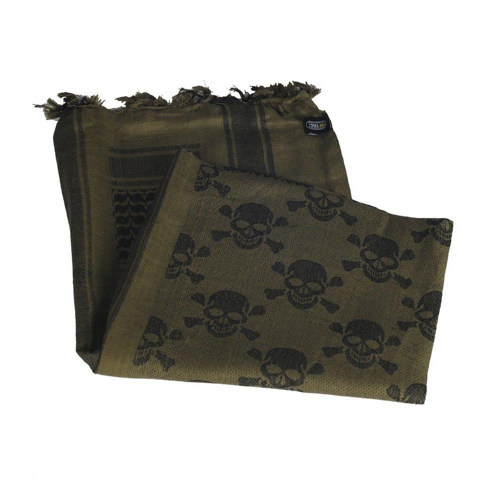 Shemagh - Tactical Desert - Head Scarf - Neck Wrap - Keffiyeh (Olive/Black)