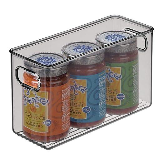 mDesign Organizador de nevera para la cocina - Cajas de plástico ...