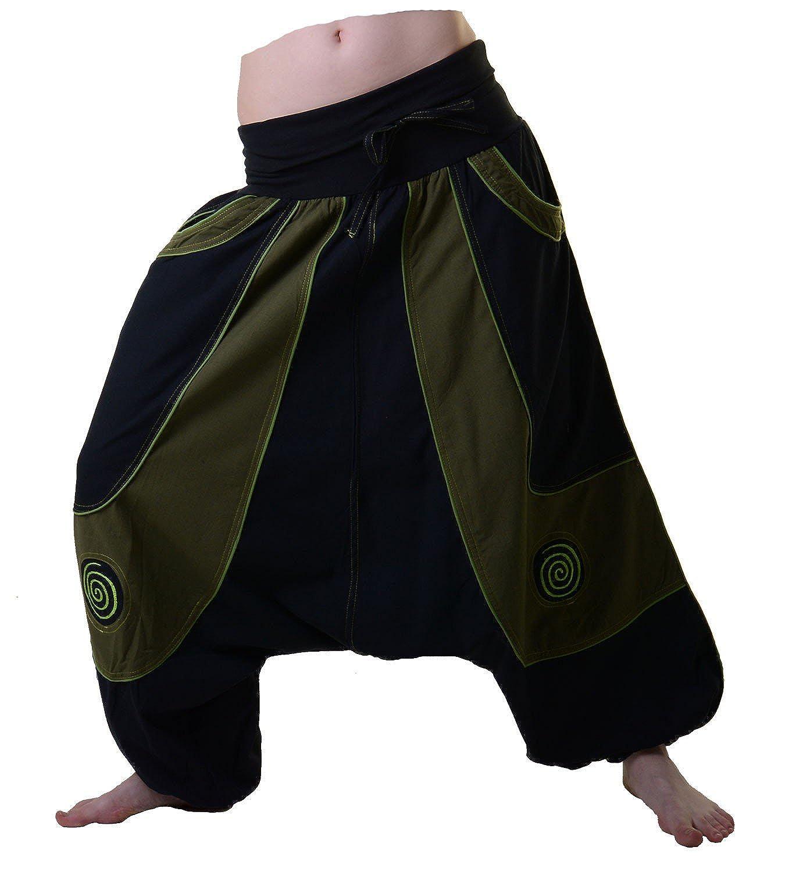 Kunst und Magie Women's Patchwork Harem Pants with unique Design