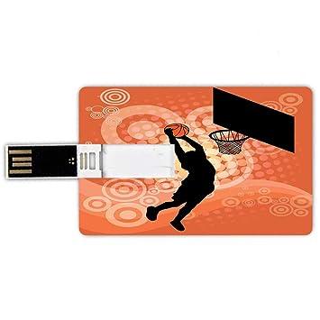 64GB Forma de Tarjeta de crédito de Unidades Flash USB Baloncesto ...