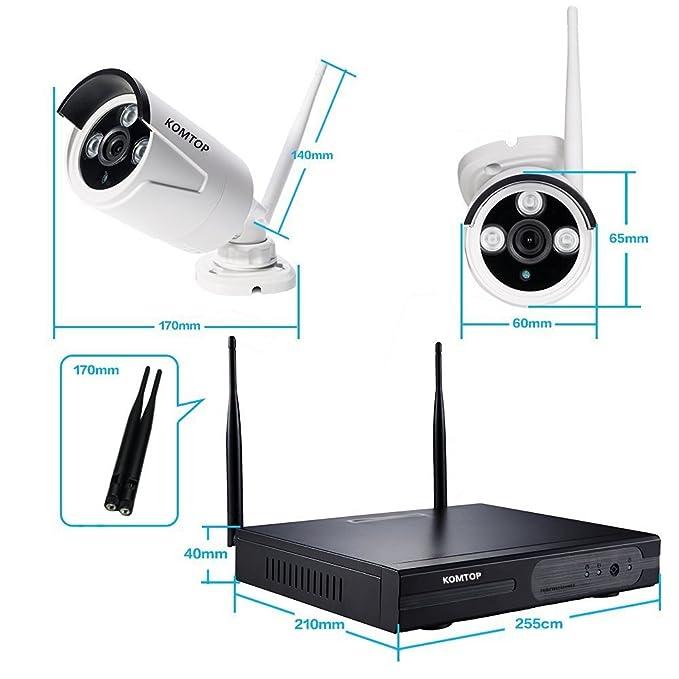 voyagea inalámbrica cámaras de seguridad 4 ch 720p NVR HD [1.0 megapíxeles de circuito cerrado de televisión inalámbrico de seguridad inalámbrica ...