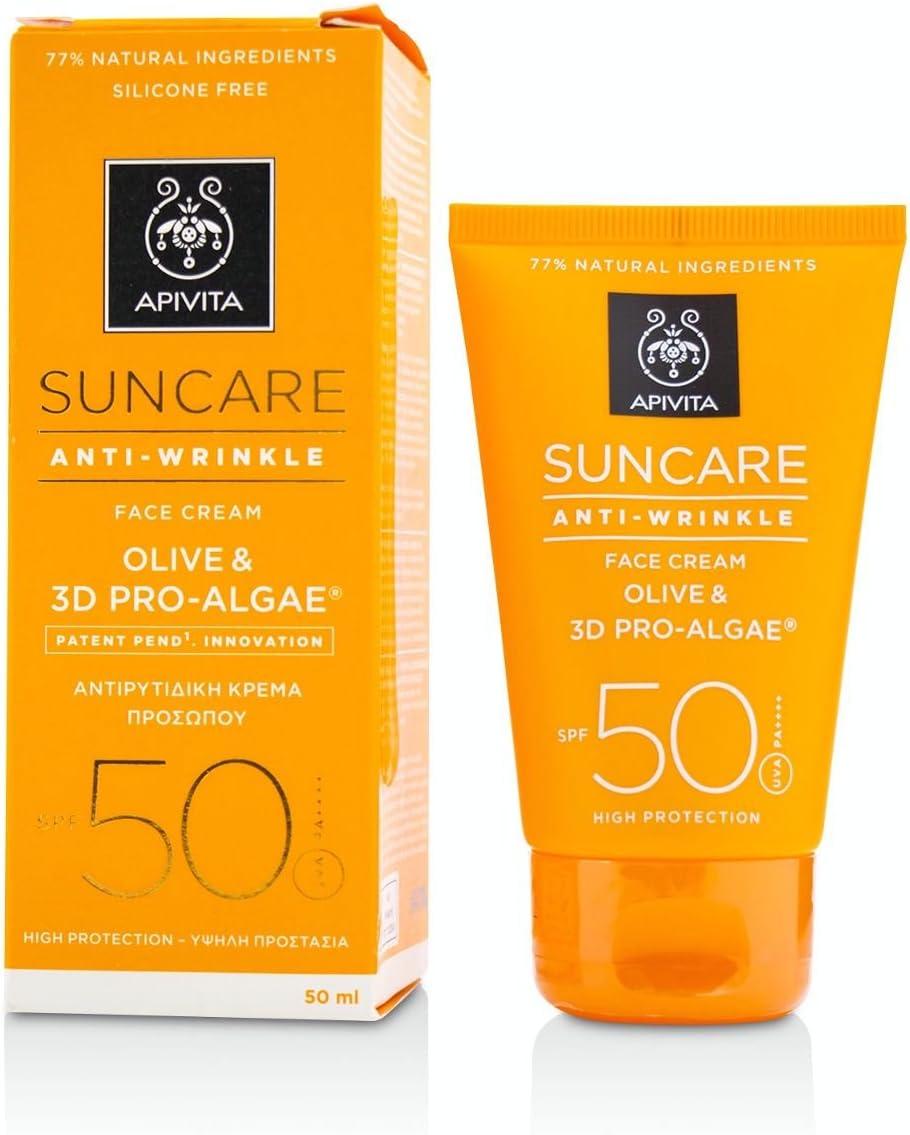 Suncare Anti-Wrinkle Face cream SPF 50 50ml: Amazon.es: Belleza