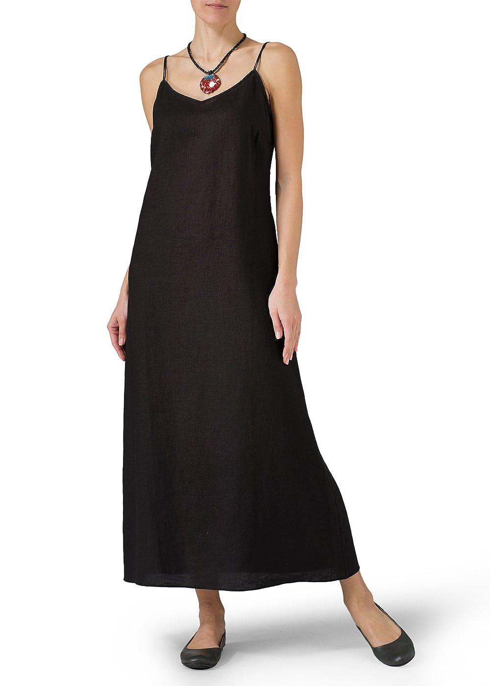 e2f66df05d Vivid Linen Spaghetti Strap Extra Long Dress at Amazon Women s Clothing  store