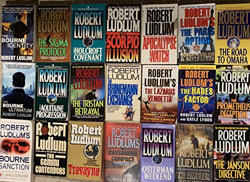 Robert Ludlum Action Thriller Novel Collection 21 Book Set ()