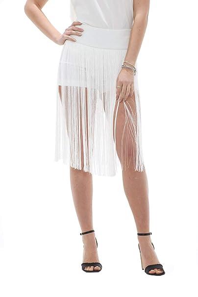 577d1cf79e PATRIZIA PEPE Pantaloni Shorts Donna con Frange: Amazon.it ...