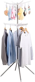 Lifewit Collapsible Clothes 2-Tier Drying Rack