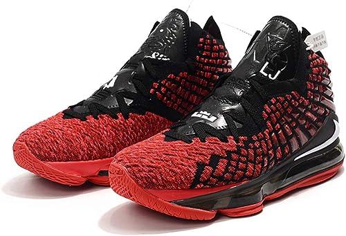 Zapatillas de Baloncesto para Hombre Lebron 17 War Shoes, Negro ...