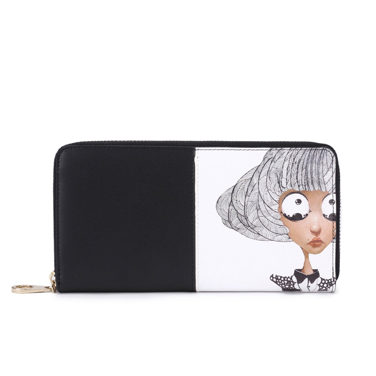 Cat Wallet For Women Cute Zip Purse Leather Handbag Card Bag Large Clutch  Black By Qianbh  Amazon.in  Shoes   Handbags 749a1b64d9723