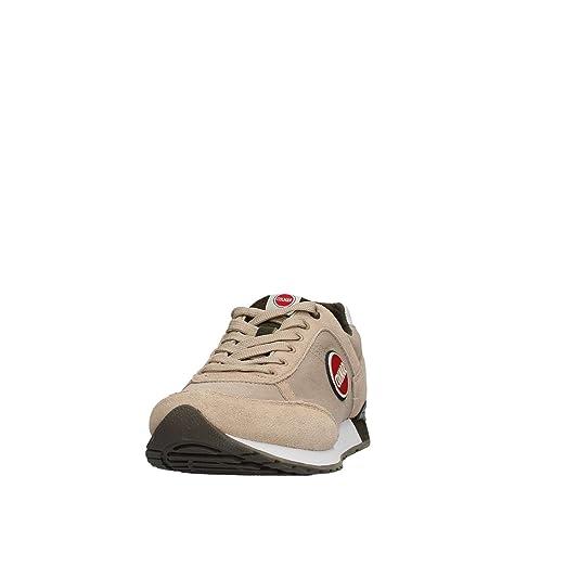 Colmar TRACOL Beige Military Scarpe Uomo Sneakers Lacci Tessuto 43