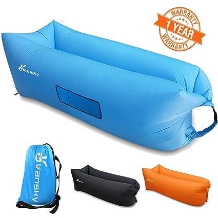 Vansky® inflable sofá sofá de dormir compresión de tumbona cama de ...