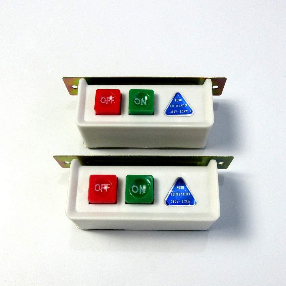 2 juegos de botones de encendido y apagado para motor industrial de máquina de coser 380 voltios