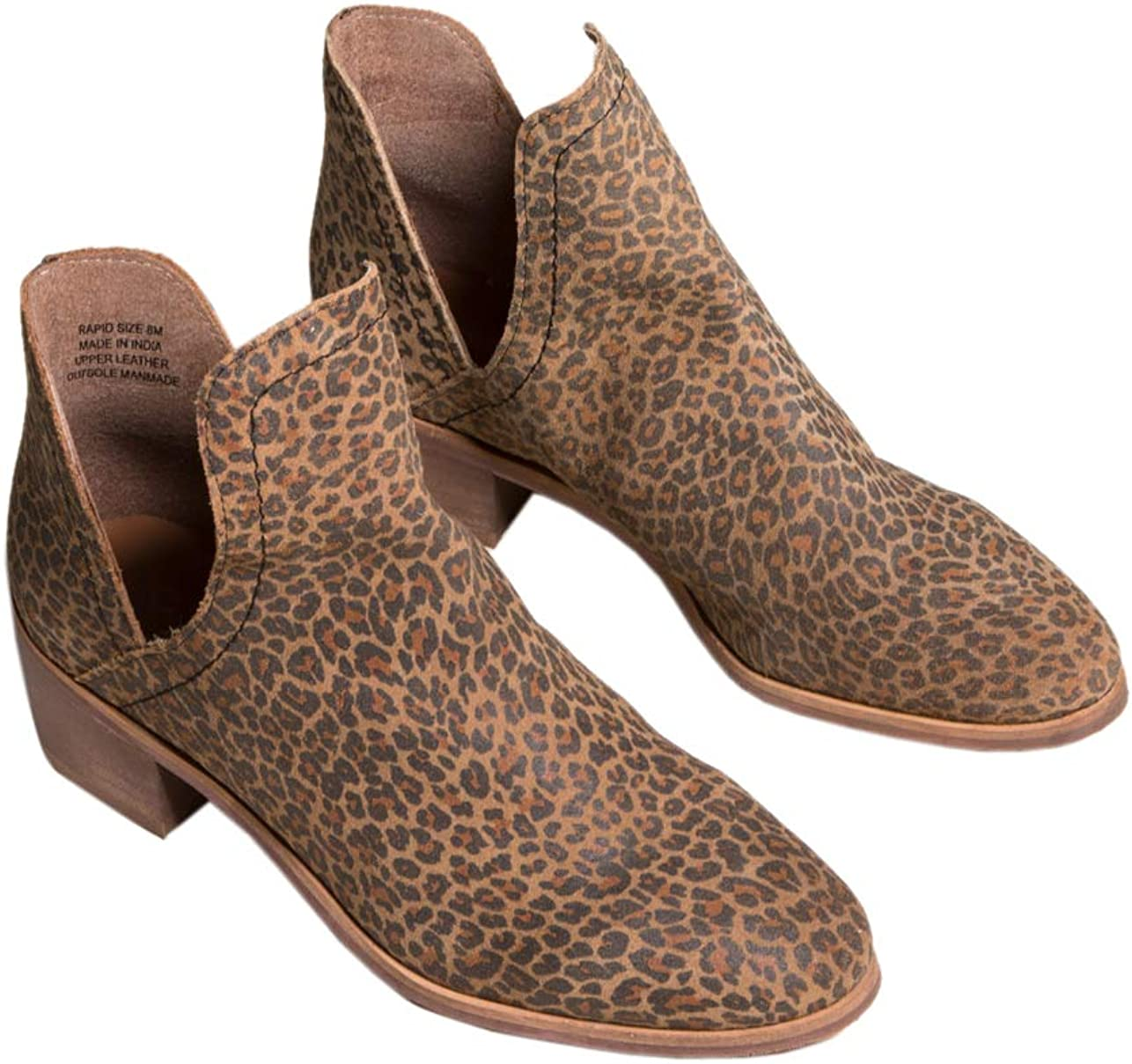 Coconuts Rapid Chop Out Leopard Booties