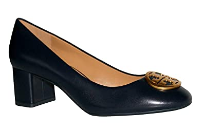 b4fd8eaf41841c Tory Burch Benton 50MM Closed Toe Pump Heels Women s Leather Shoes Perfect  Navy 430 (7.5