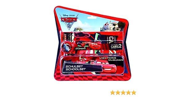 Undercover CA112645 Cars 2 Lightninh McQueen - Set de escritorio (estuche, regla, lápiz, goma, sacapuntas, cuaderno) [importado de Alemania]: Amazon.es: Juguetes y juegos