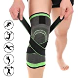 3D Weaving Compression Knee Support Sleeve Brace Breathable for Running Jogging Sports for Joint Pain and Arthritis Relief, Improved Circulation Compression