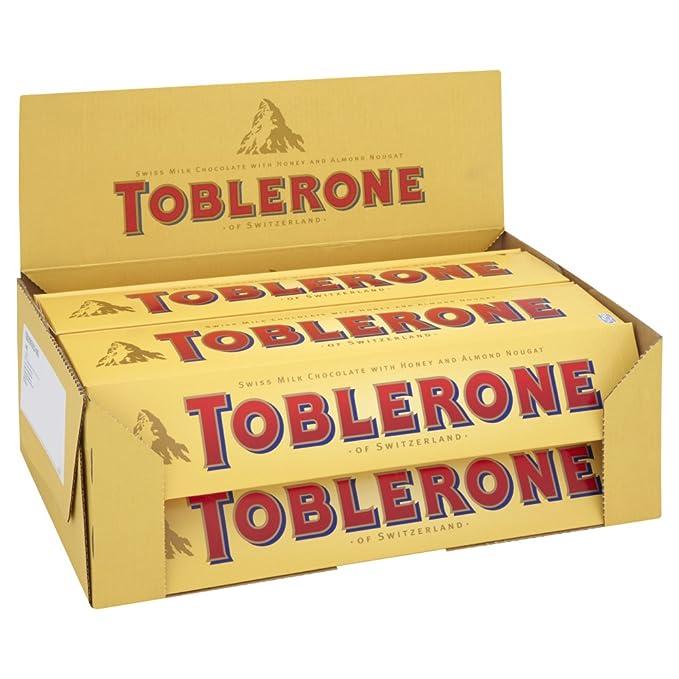 Toblerone - Chocolate con Leche de 400 g (Paquete de 10 Unidades)