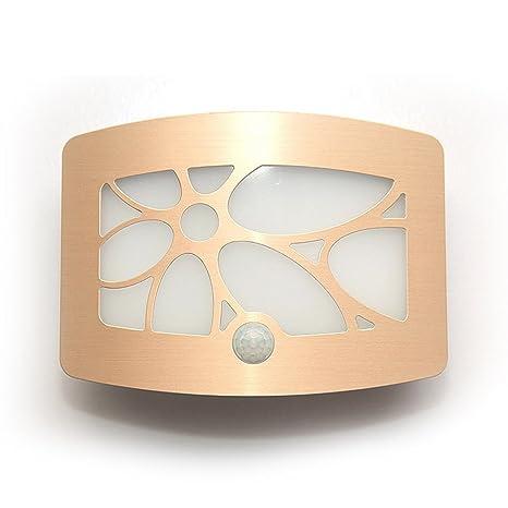 INCHANT USB recargable de aluminio del sensor de movimiento 10 LED lámpara de pared de luz