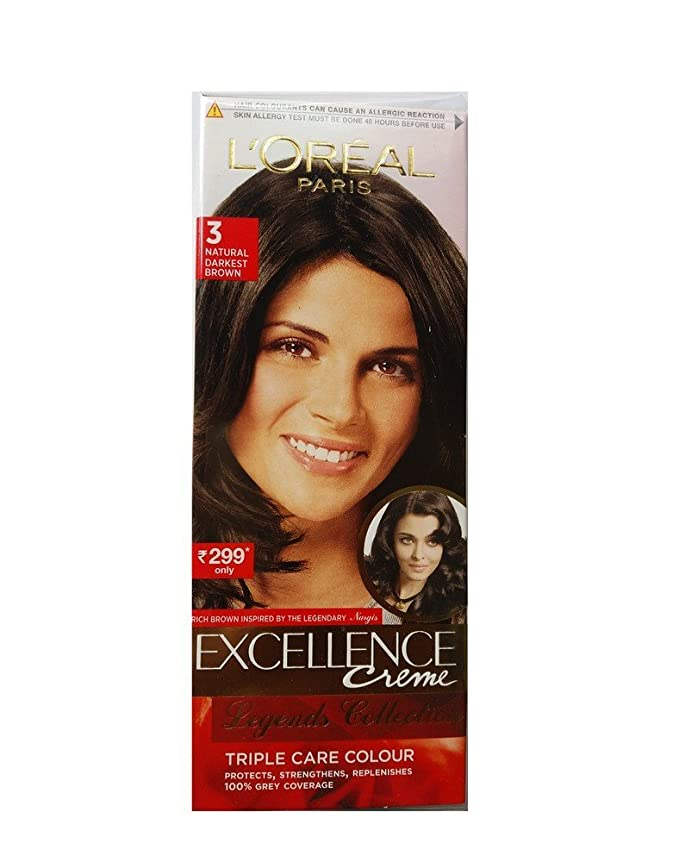 Buy Loreal Paris Excellence Triple Care Colour 3 Natural Darkest