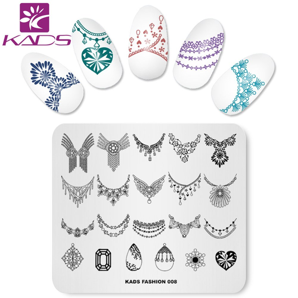 KADS Nail Stamping Plate Fashion Nail Art Stamp Template DIY Image Template Manicure Stamping Plate Stencil Tools (FASHION 005) KADS Co. Ltd