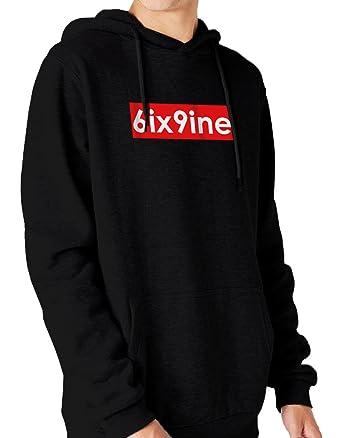 Amazon.com: Ulterior Clothing Tekashi69 6ix9ine Box Logo Sweatshirt: Clothing