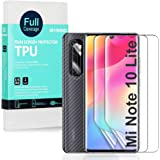 Ibywind Hydrogel Film Screen Protector for Mi Note 10 Lite,[Pack of 2],[Camera Lens Protector][Back Carbon Fiber Film…