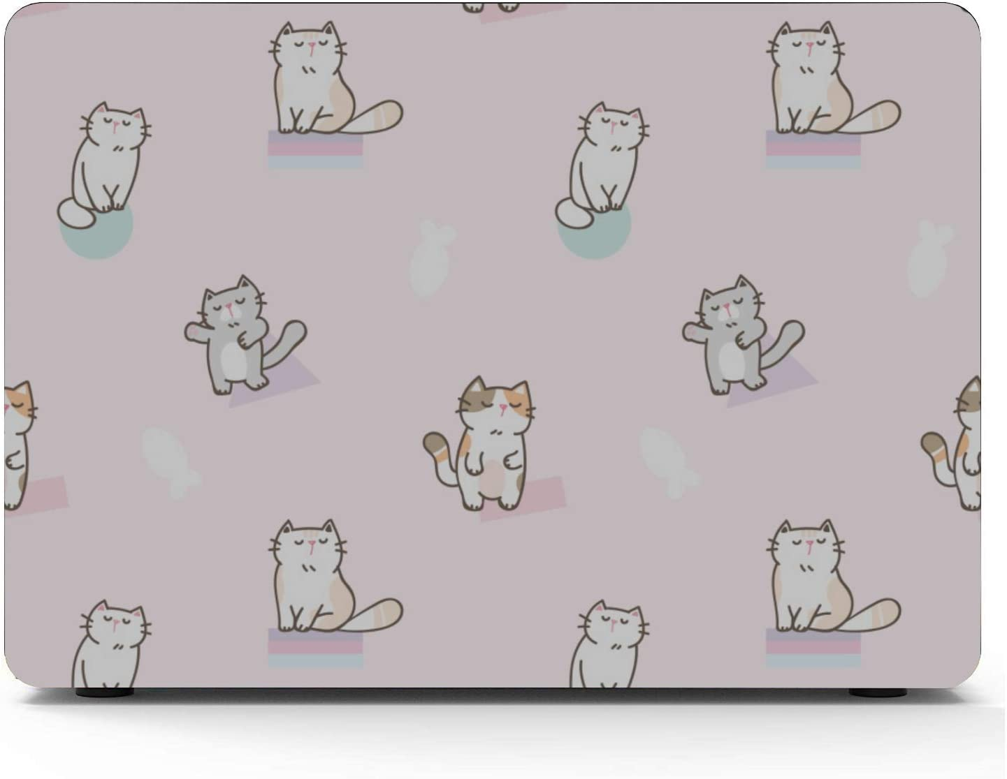 Laptop Hard Case Smart Warm Heart Gift Animal Pet Cat Plastic Hard Shell Compatible Mac Air 11 Pro 13 15 Mac Book Air Covers Protection for MacBook 2016-2019 Version