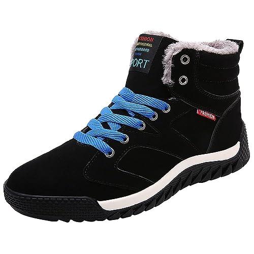 173dbb0206b2 wealsex Basket Montant Fourre Homme Chaussure Antidérapant Sneakers Suédé  Hiver Chaud Confort