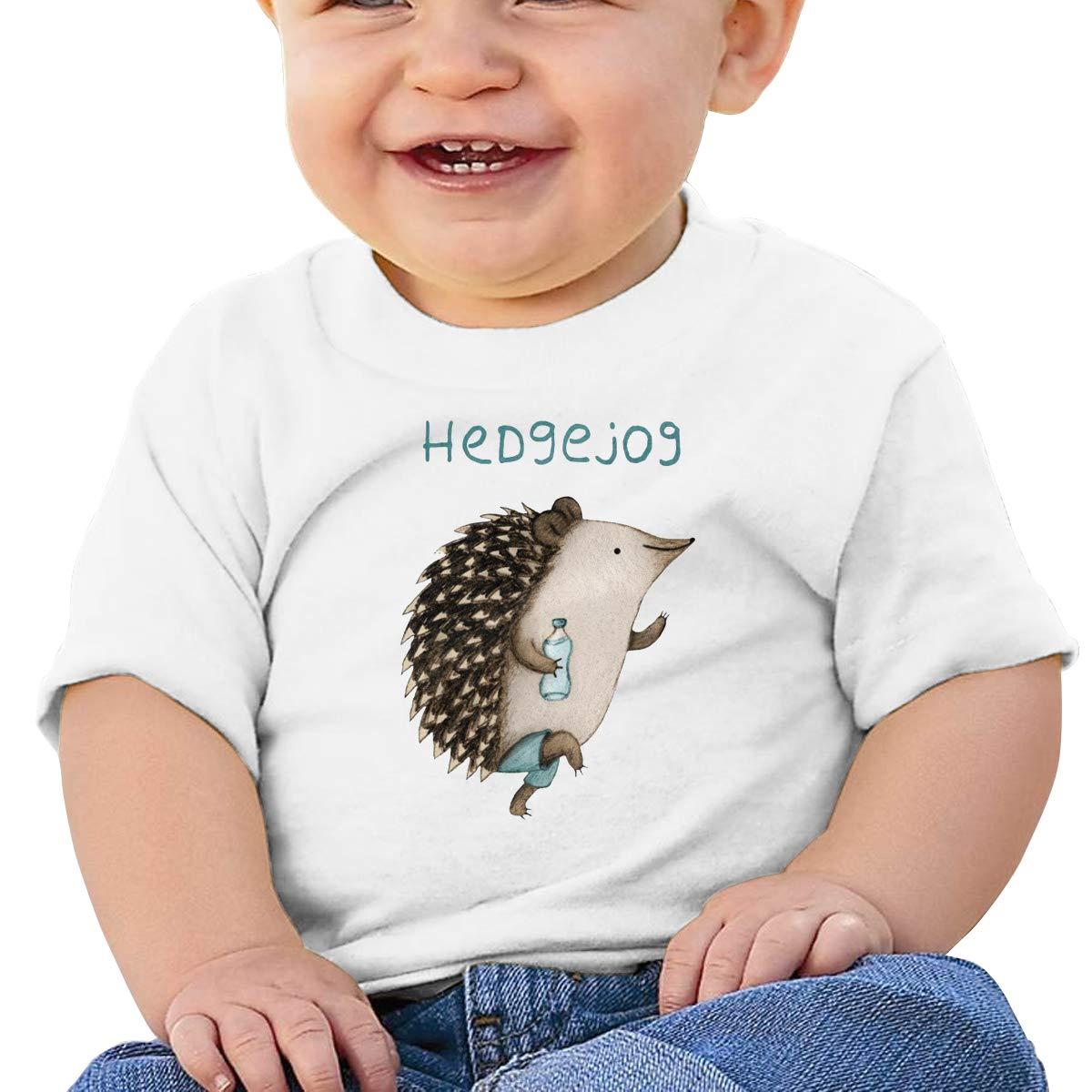 SakanpoHedgehog Toddler//Infant Short Sleeve Cotton T Shirts White