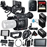 Canon EOS C200 EF Cinema Camera #2215C002 (International Model) + Canon BP-A60 Battery + Canon GPS Receiver GP-E2 + 256GB SDXC Card + Deluxe Cleaning Kit + MicroFiber Cloth Bundle