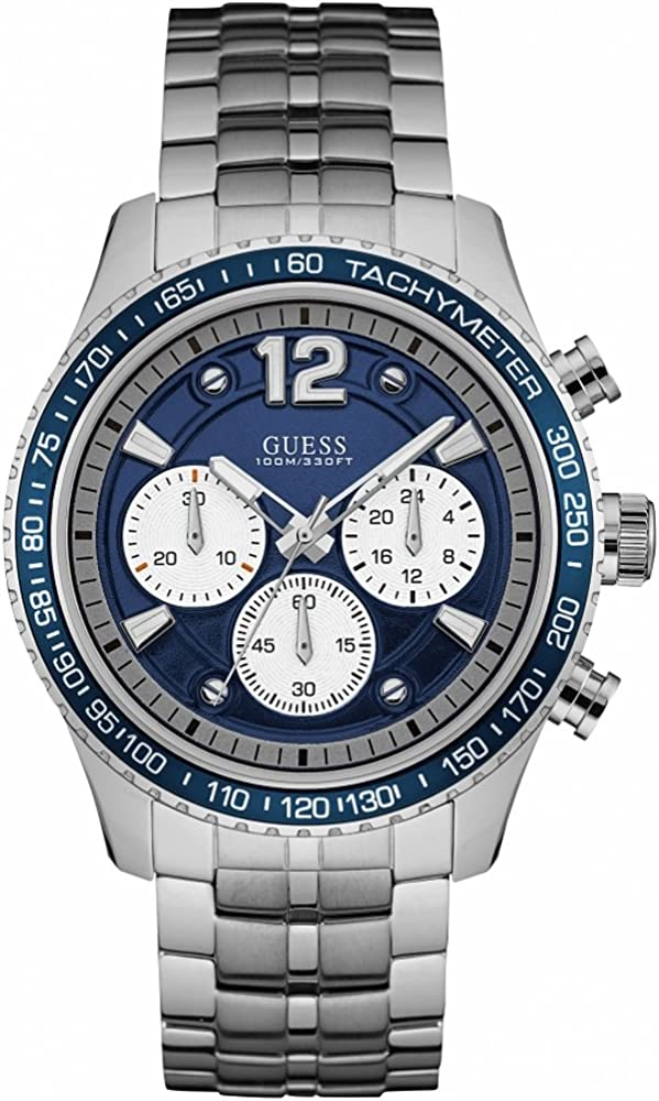 Guess W0969G1 orologio uomo acciaio chrono bracciale