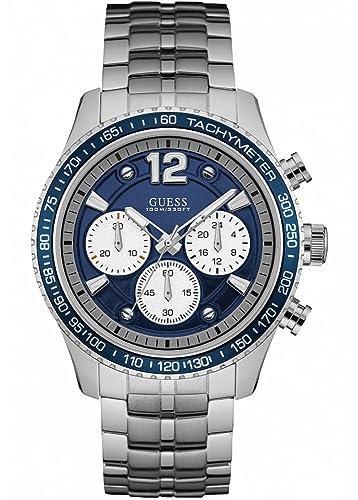 Guess Reloj Cronógrafo para Hombre de Cuarzo con Correa en Acero Inoxidable W0969G1: Amazon.es: Relojes