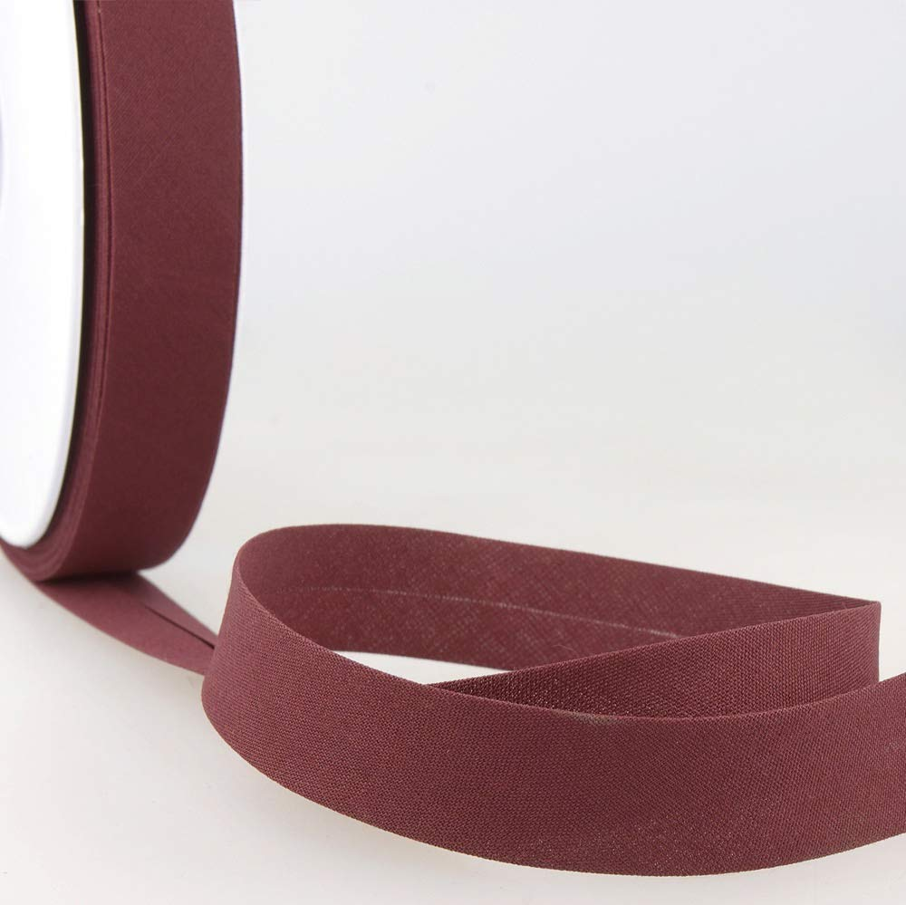 Rich Plum 27mm Wide Stephanoise Plain Bias Binding Per Metre