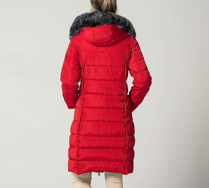Amazon.com: Summer-lavender Parkas for Winter Jacket Coat Slim Fur Collar Parkas Warm Winter Thick Hooded Coat Outwear: Clothing