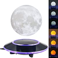 Magnetic Levitating Wireless Moon Lamp Floating and Spinning in The Air Freely with Gradient Warm and White LED Light That Automatically Converted for HomeOffice DecorationUnique GiftsNight Light