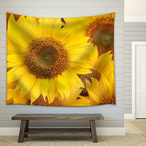 Sunflowers Closeup Fabric Wall