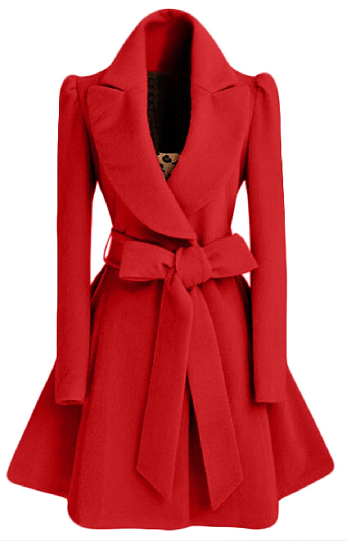 Alion Women's Winter Coat With Lapel Lapel Wool