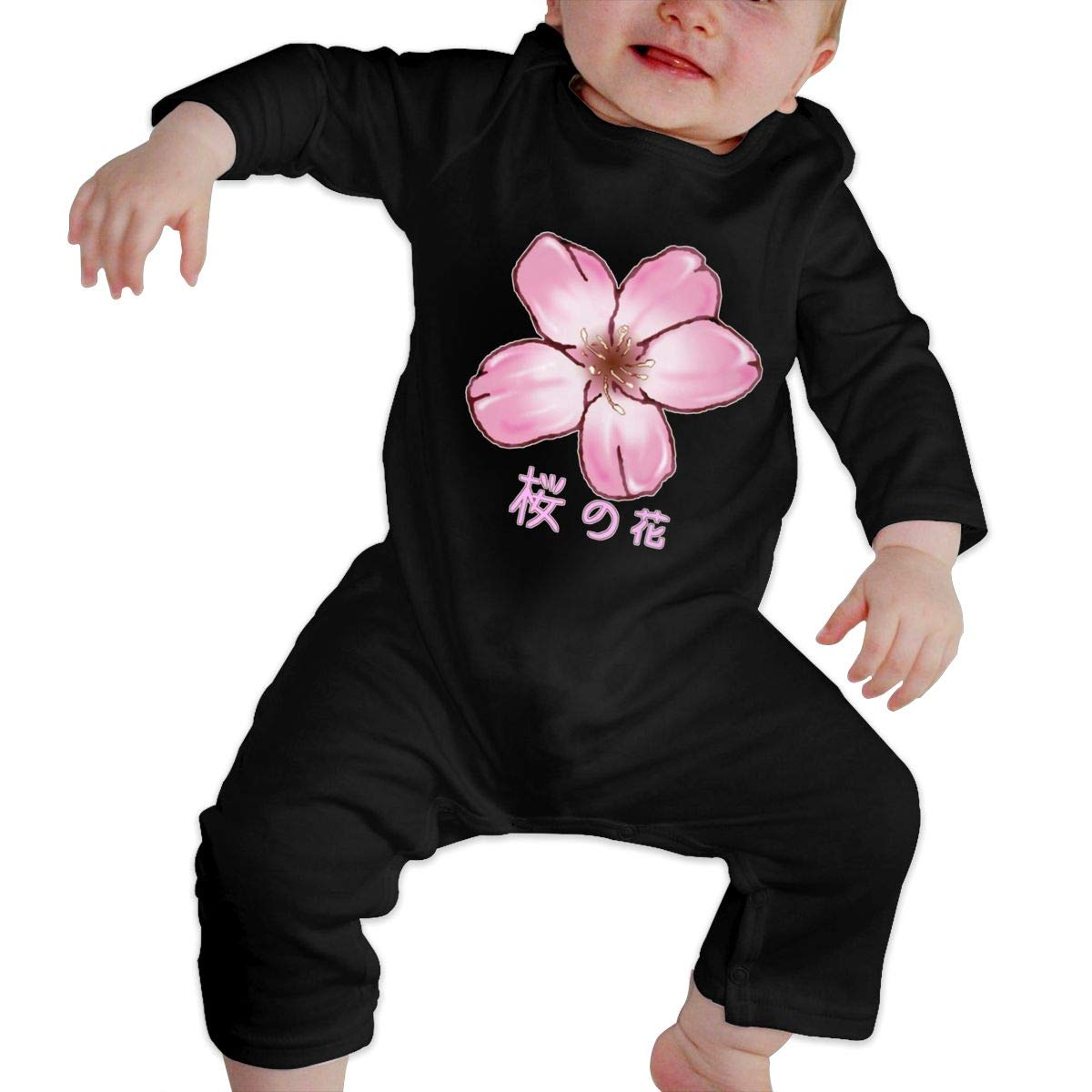 Baby Boy Girl Long Sleeve Baby Newborn Boy Superman Bodysuits Cherry Blossom Japanese
