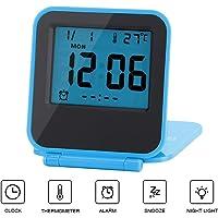 Yosoo Mini Réveil numérique Pliable Multifonctionnel Horloge LED Réveil Matin Portable avec Calendrier Température Date Semaine