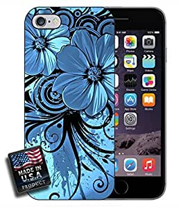 Graffiti Blue Flowers iPhone 6 Hard Case