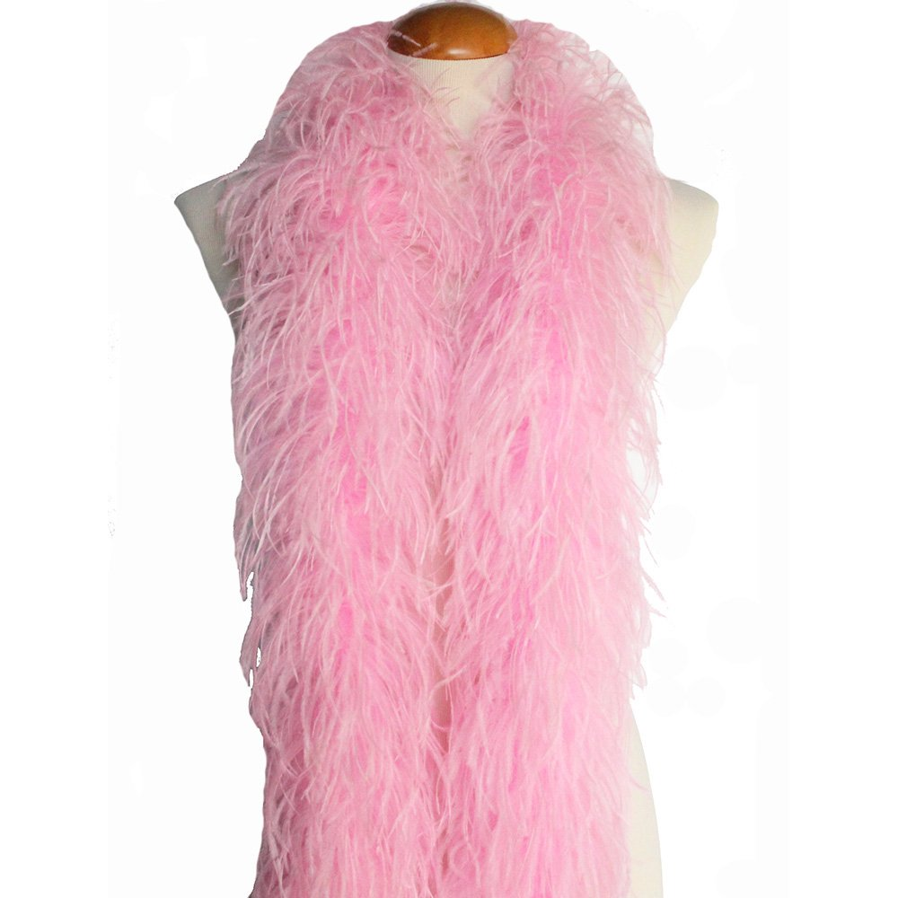 4ply Ostrich Feather Boas, Over 20 Colors to Pick Up (Baby Pink) by Cynthia's Feathers (Image #1)