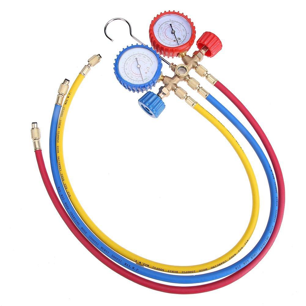 Vipeco R12 Refrigerant Current Divider Meter Tool Set AC Diagnostic Manifold Gauge