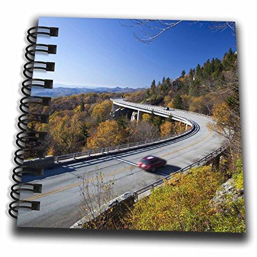 - 3dRose Linn Cove Viaduct, Blue Ridge Parkway, North Carolina - Us34 Cha0049 - Chuck Haney - Mini Notepad, 4 by 4-Inch (db_93223_3)