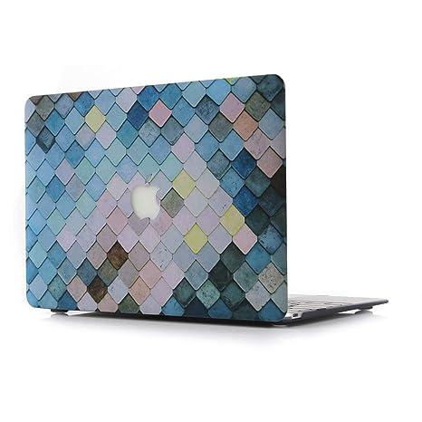 RQTX Funda Dura para Apple MacBook Air 13,3 Pulgadas Modelo A1466/A1369 Portátiles Accesorios Plástico Rígida Carcasa con Cubierta de Teclado ...