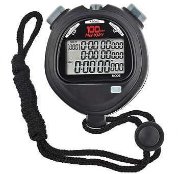 HaoYaa Cronómetro Digital, Temporizador Grande de Pantalla de Tres ...