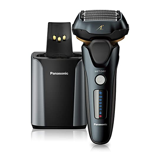 Amazon.com: Panasonic Electric Razor for Men, Electric Shaver, ARC5 with Premium Automatic Cleaning and Charging Station, Wet Dry Shaver Men, Cordless Razor, Shaver with Pop-Up Trimmer ES-LV97-K, Black: Beauty