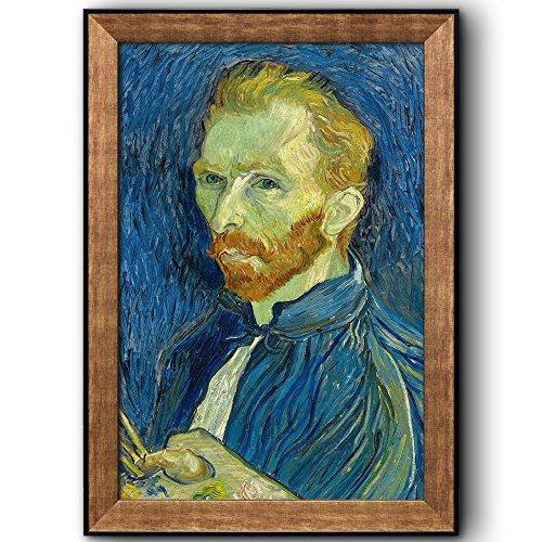 Self Portrait by Vincent Van Gogh Oil Painting Impressionist Artist Framed Art