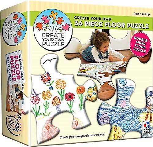 Cobble Hill Create Your Own Floor Puzzle Jigsaw Puzzle, 36-Piece by Cobble Hill ()